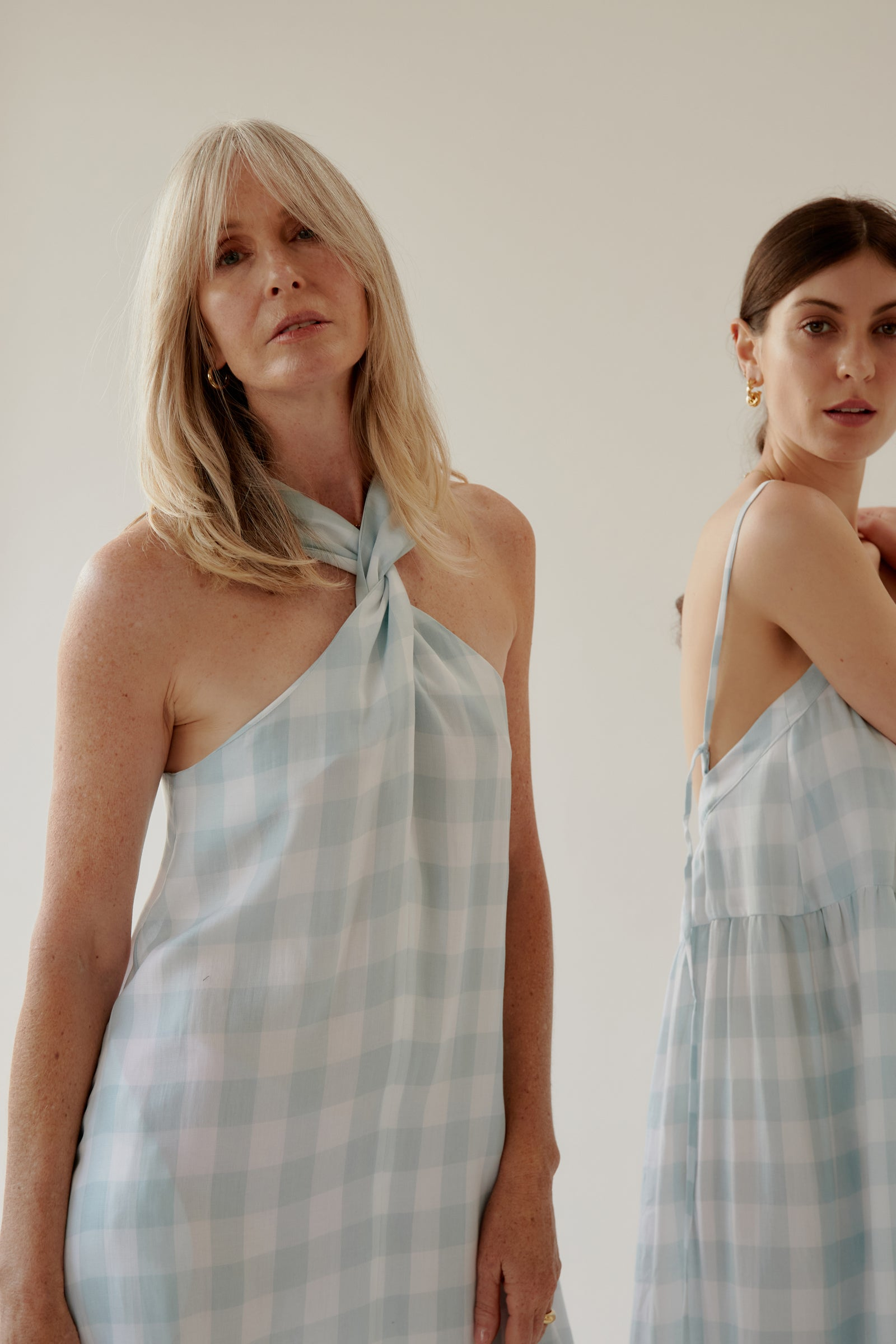 Moa Dress Mint Gingham