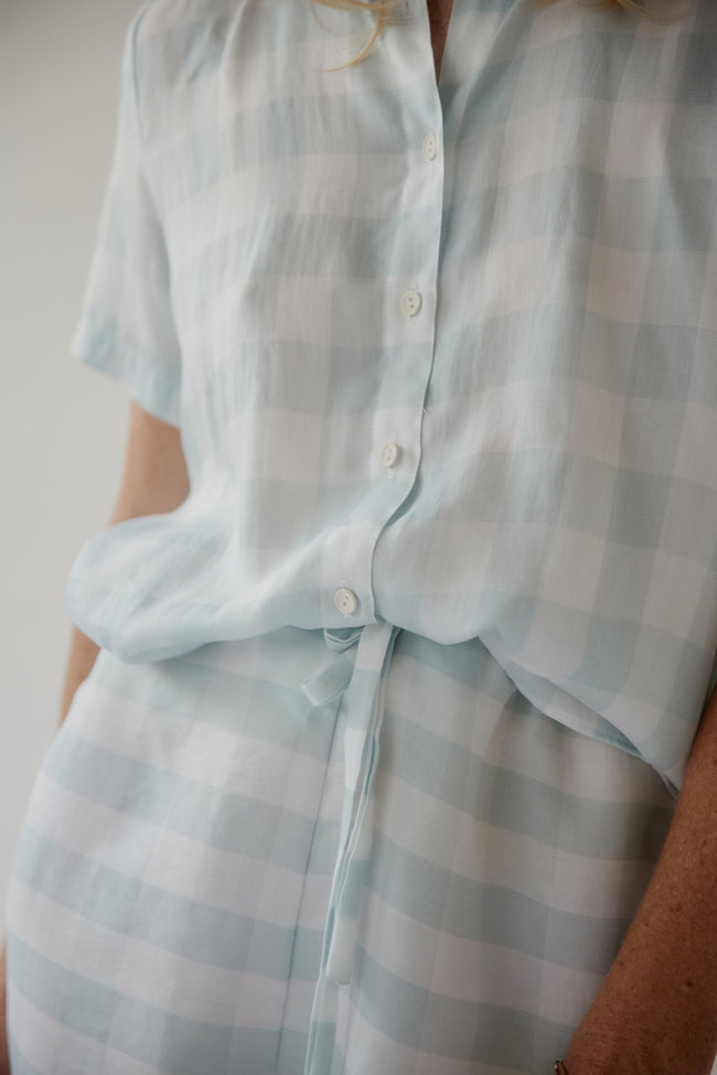 PJ Set Mint Gingham