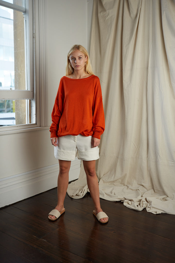 Cecile Knit Rust