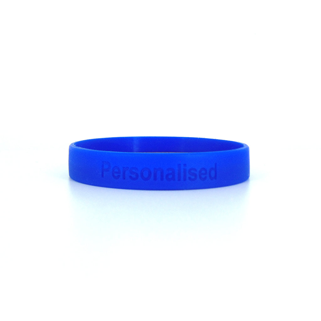 Debossed One Colour Silicone Wristbands