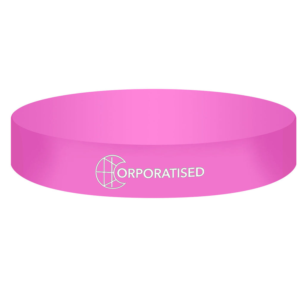 Ink Filled Colour Silicone Wristbands