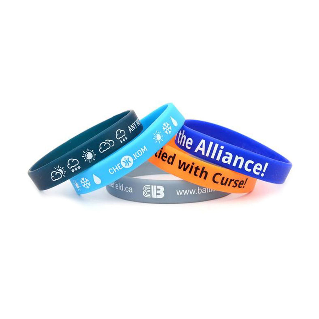 Screen Printed Silicone Wristbands