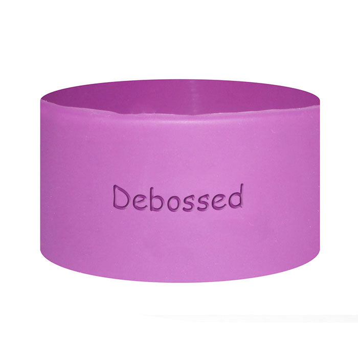 1 Inch Wide Debossed Silicone Wristbands