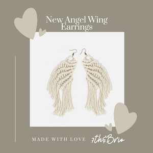 Angel Wings - Oversized Macrame Earrings