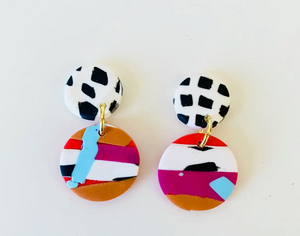 Handpainted Mini Earrings: Dotted Studs