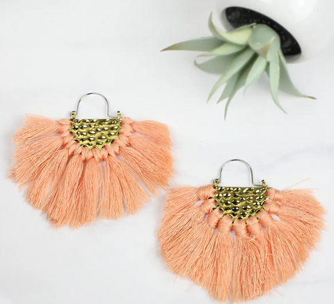 Goldtone Fringe Drop Earrings