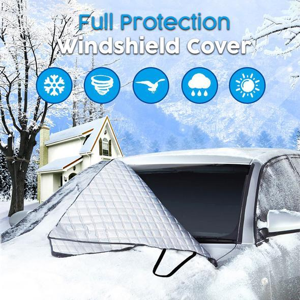 Last Day Promotion!80% OFF-Magnetic Full Protection Windshield Cover(Signature + Mirror Covers)