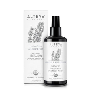 Organic Bulgarian Lavender Water 200 ml - Glass Bottle - Alteya Organics UK