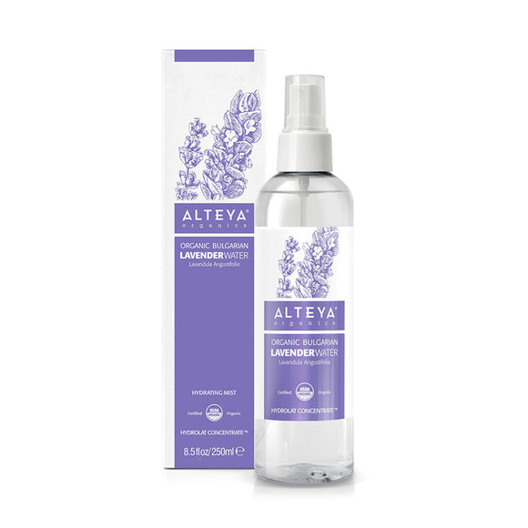 Organic Bulgarian Lavender Water 250 ml - Alteya Organics UK