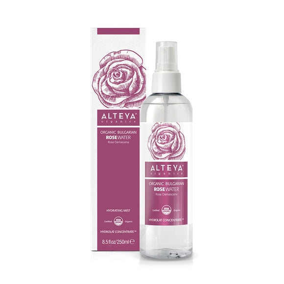 Organic Bulgarian Rose Water 250 ml Spray - Alteya Organics UK