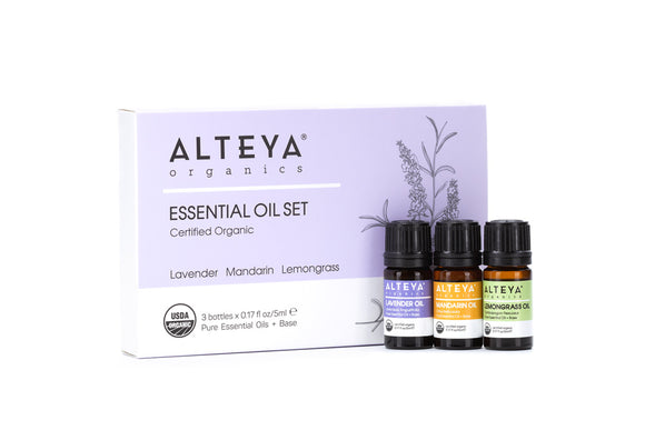 Organic Essential Oil Pure Indulgence Gift Set alteya uk