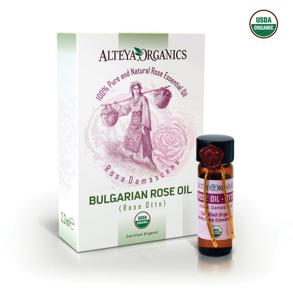 Organic Bulgarian Rose Oil (Rose Otto) 2.3 ml - Alteya Organics UK