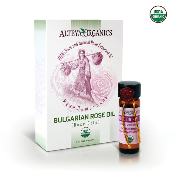 Organic Bulgarian Rose Oil (Rose Otto) 8.2 ml - Alteya Organics UK