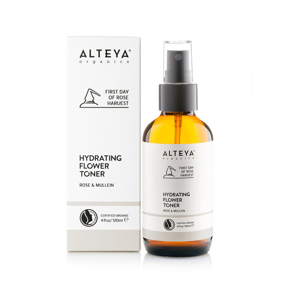 Organic Hydrating Flower Toner Rose & Mullein 120ml - Alteya Organics UK