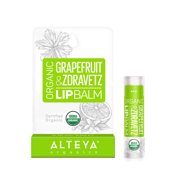 Organic Lip Balm Grapefruit & Zdravetz - Alteya Organics UK