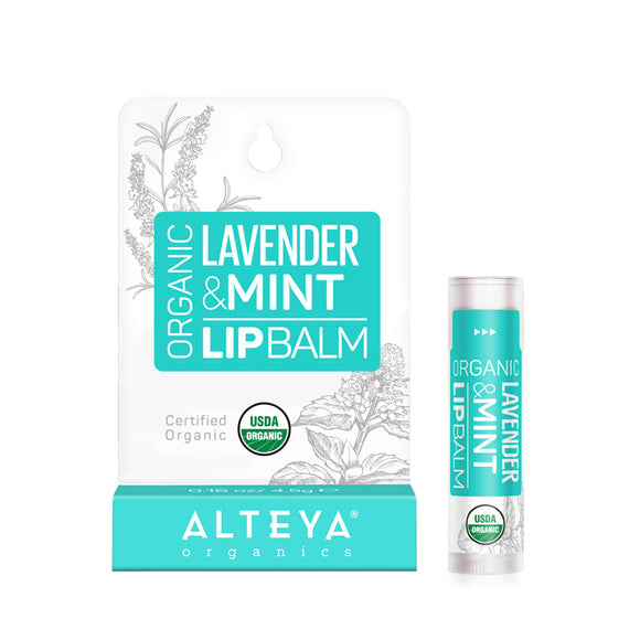 Organic Lip Balm Lavender & Mint - Alteya Organics UK