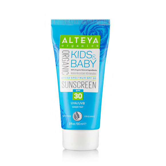 Organic Sunscreen Kids & Baby SPF30 90 ml - Alteya Organics UK