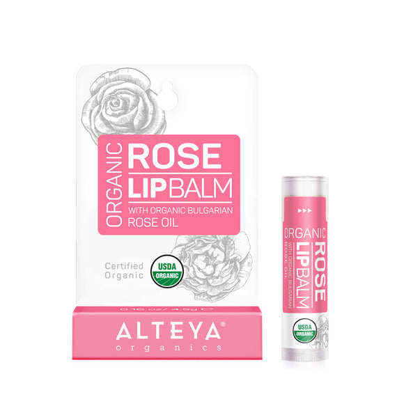 Organic Lip Balm Rose - Alteya Organics UK
