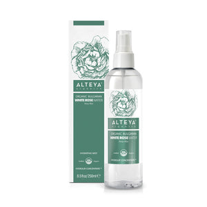 Organic Bulgarian White Rose Water (Rosa Alba) 250 ml Spray - Alteya Organics UK