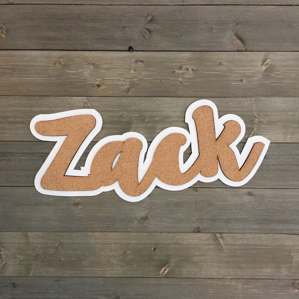 CORK BOARD - PERSONALIZED NAME
