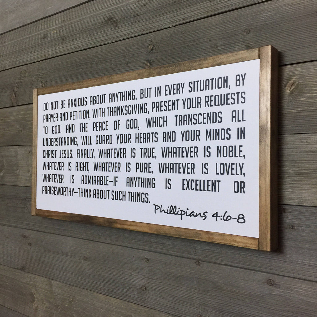 FRAMED WOOD SIGN - SCRIPTURE