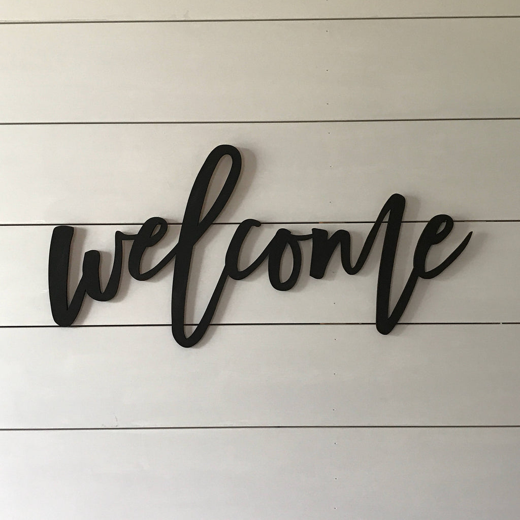 CUT OUTS - WELCOME