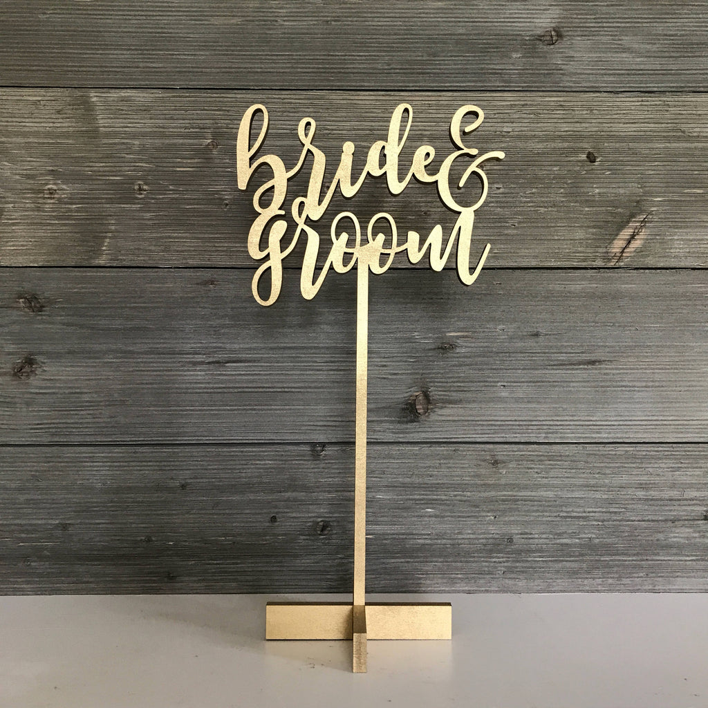 WEDDING SIGN - BRIDE AND GROOM