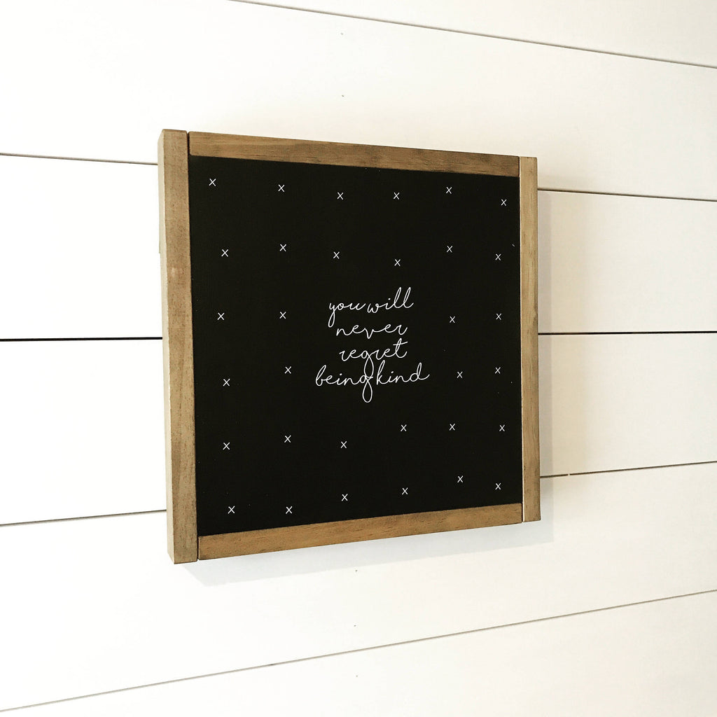 FRAMED WOOD SIGN - KIND
