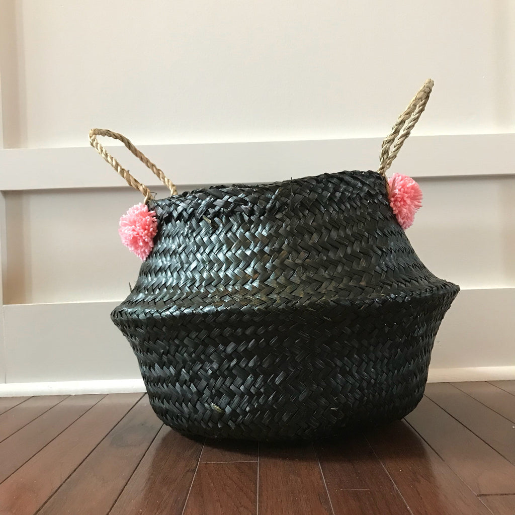 BASKET - SEAGRASS BELLY - BLACK
