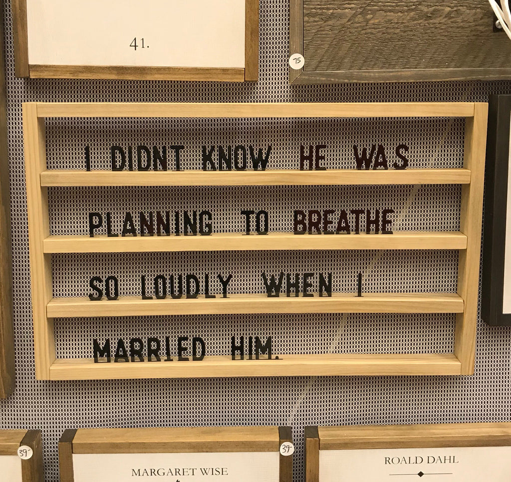 LETTER BOARD - HORIZONTAL