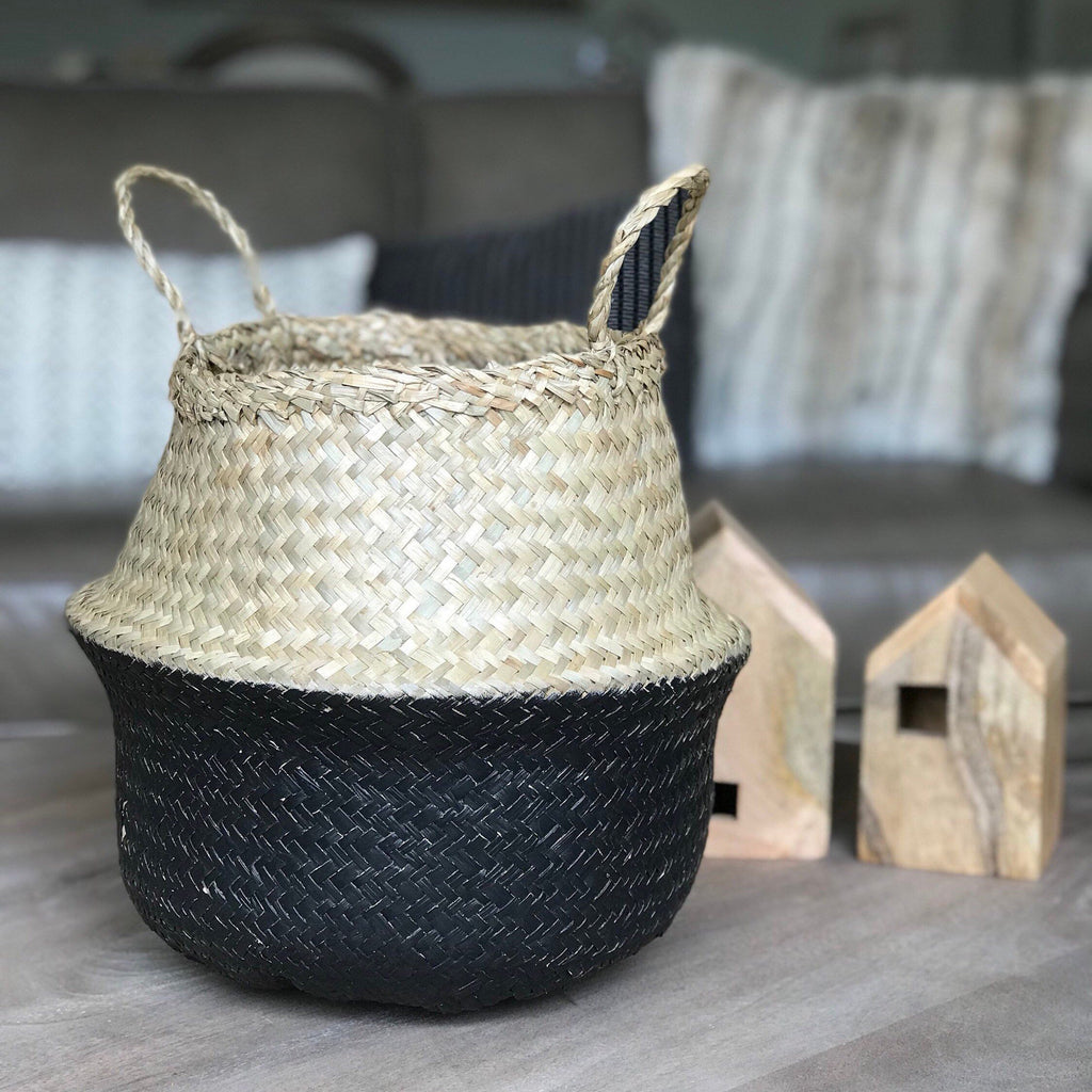 BASKET - SEAGRASS BELLY - TWO TONE