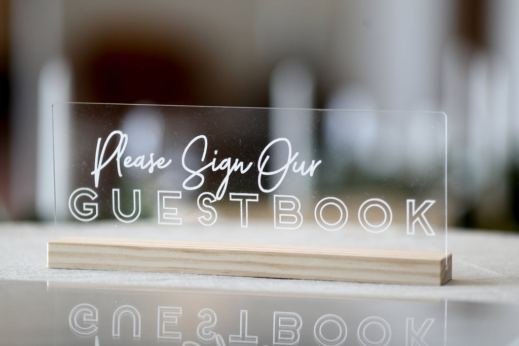 GUESTBOOK SIGN - ACRYLIC - CLEAR MODERN