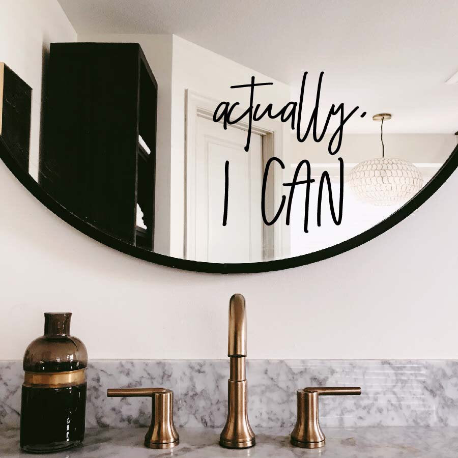 Mirror decal - actually I can