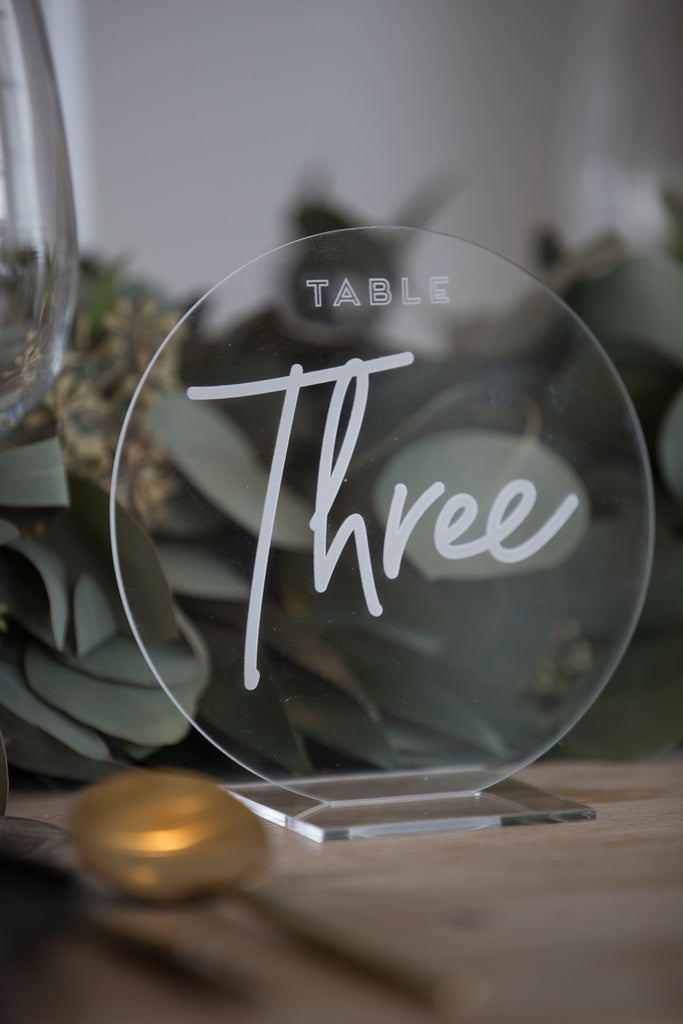 TABLE NUMBERS - ACRYLIC - ROUND