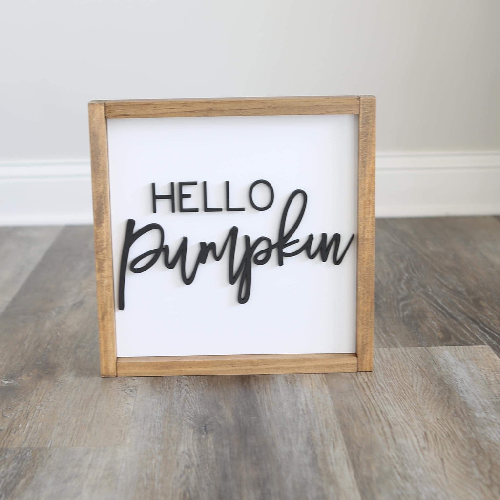 HELLO PUMPKIN WOOD SIGN