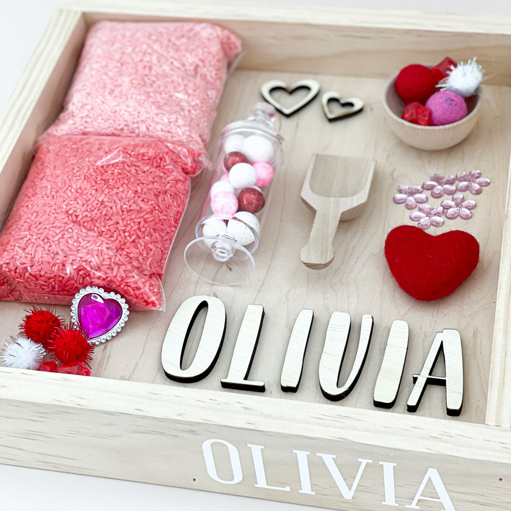 Love themed sensory kit