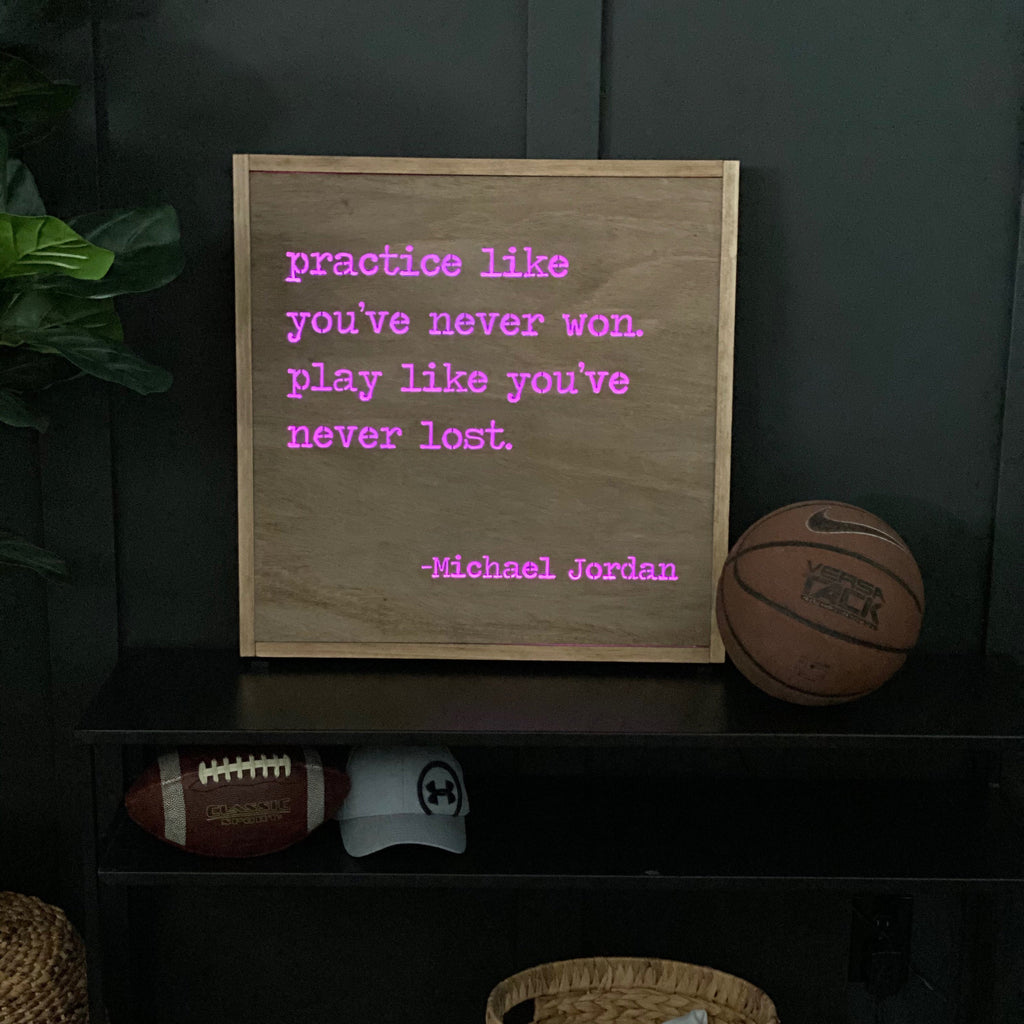 LED sport quote sign