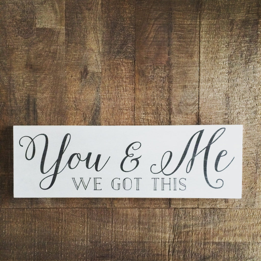 FRAMED WOOD SIGN - YOU & ME