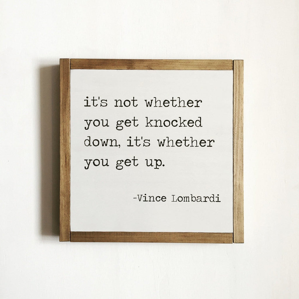 SPORT QUOTE - VINCE LOMBARDI