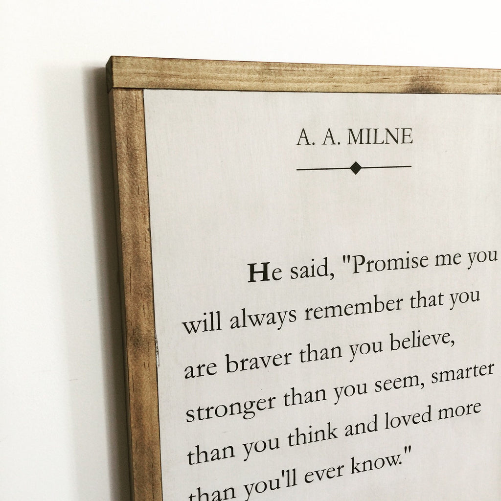 BOOK PAGE - A.A. MILNE - LARGE