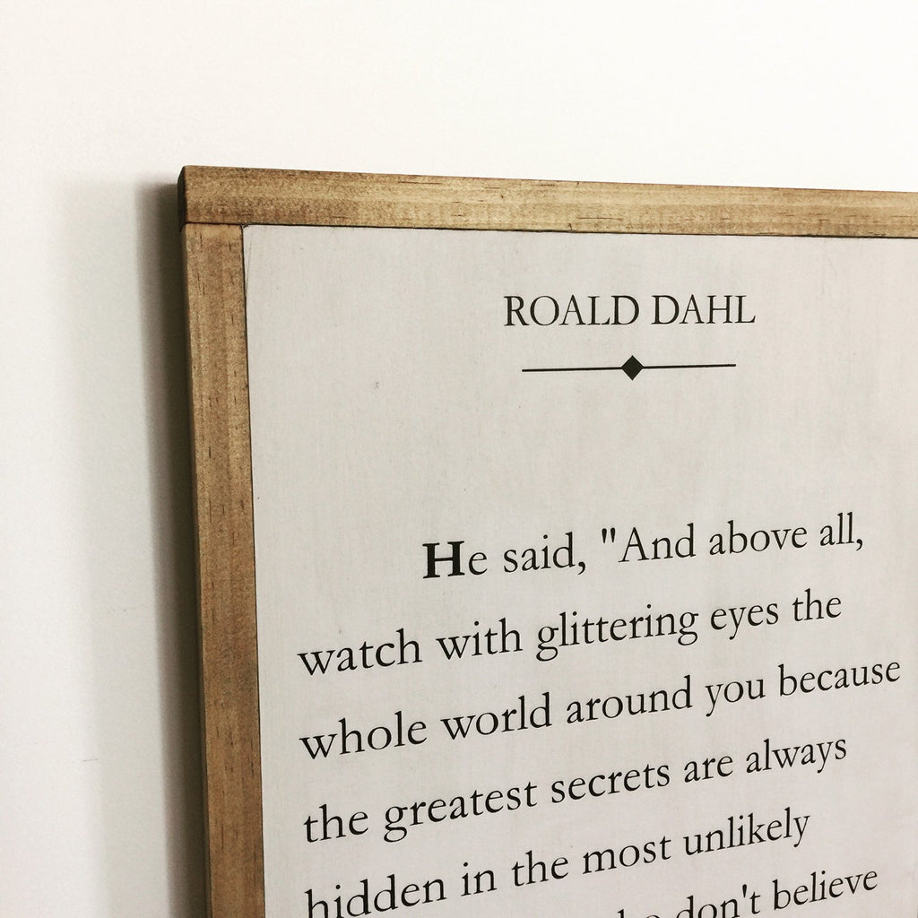 BOOK PAGE - DAHL MAGIC - SMALL