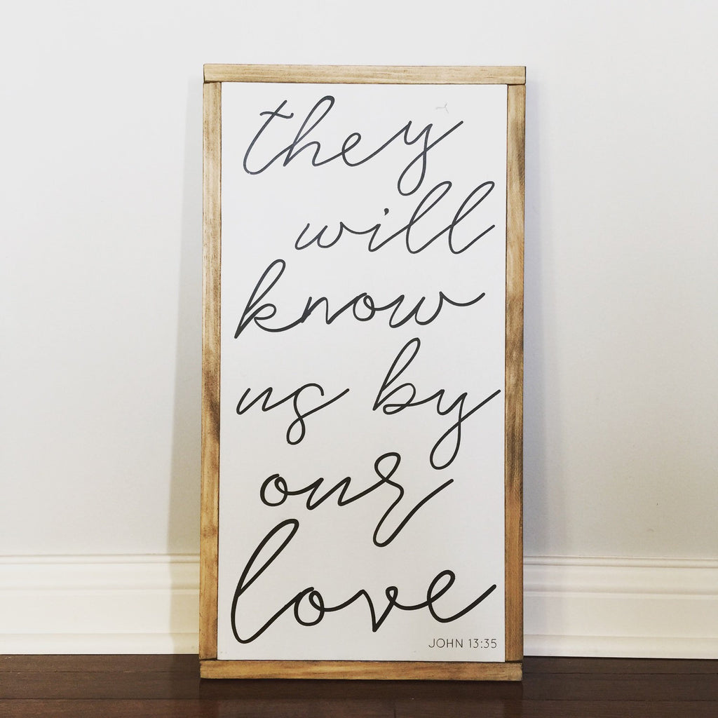 FRAMED WOOD SIGN - BY OUR LOVE