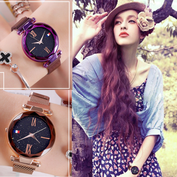 4 Colors Woman Shining Crystal Waterproof Watch