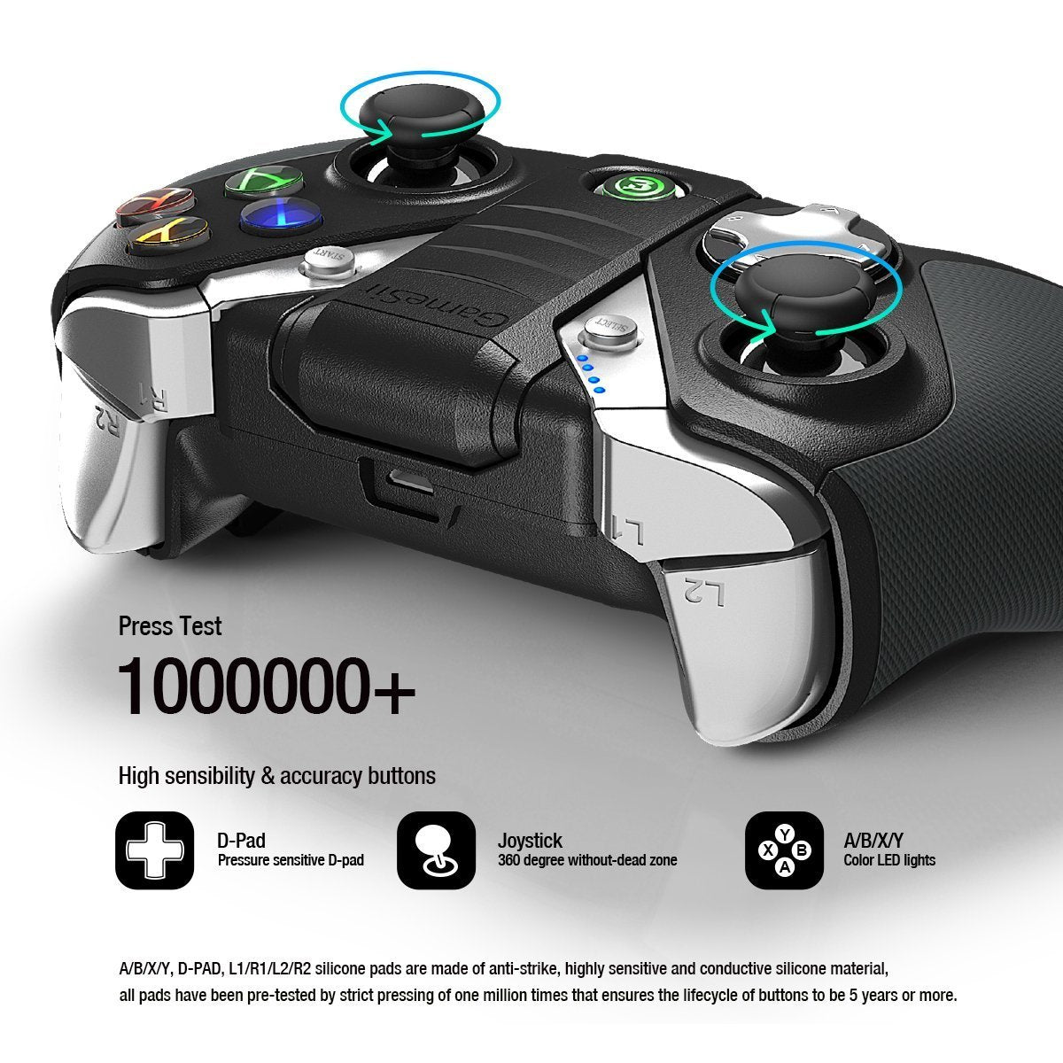 GameSir G4s Bluetooth Gaming Controller 2.4G Wireless Gamepad for Smartphone/ PC/ TV Box/ PS4/XBOX ONE