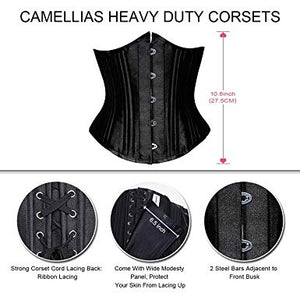 Women's Lace Up Boned Corset Bustier Bodyshaper