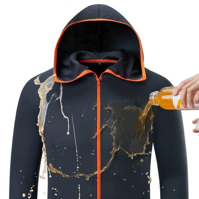 Fishing Men Tech-Waterproof Hoodie Hydrophobic Jacket