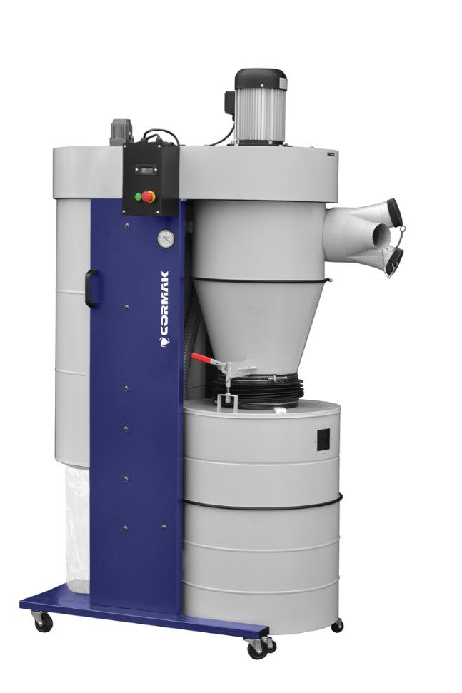 mobile cyclone dust extractor by cormak model dc3300