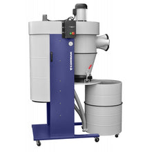 Load image into Gallery viewer, mobile cyclone dust extraction machine close up with castors