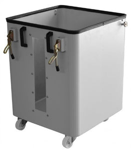 cormak dust extractor portable waste sack bin on castors