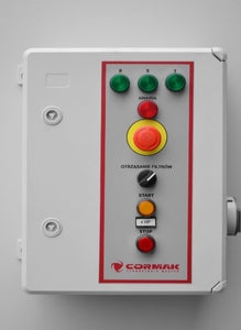 cormak dcv8900tc dust extractor close up of control panel
